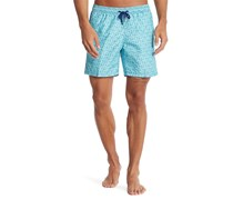 Mr. Swim Men's Cross Hatch Swim Shorts, Turquiose