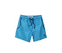 Mr.Swim Men's Squares Swimwear Short, Blue Combo