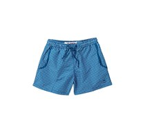 Mr. Swim Men's Gingham Print Swimwear, Midnight Blue