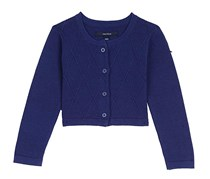 Nautica Baby Girl's Cropped Cardigan, Navy