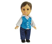 Fulla School Boy Badr Doll, White/Blue Combo