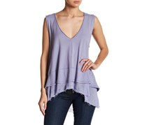 Free People Peachy Cotton Layered-Look Top, Lilac