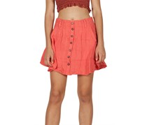 Free People Daze Away Linen Mini Skort, Coral
