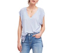 Free People Voyage Draped Tiered T-Shirt, Sky