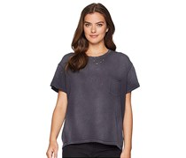 Free People Cotton Ripped T-Shirt, Black