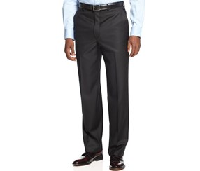 Shaquille O'Neal Collection Men's Textured Pants, Black