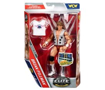 WWE Elite  Flashback Flying Brian Pillman Action Figure, Tan/Grey