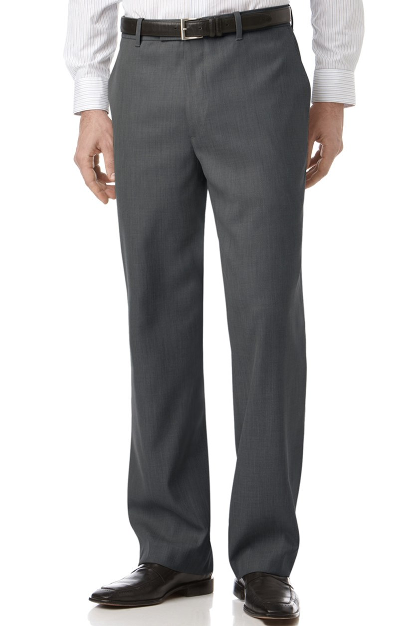 Men's Classic Fit Sharkskin Dress Pant, Charcoal