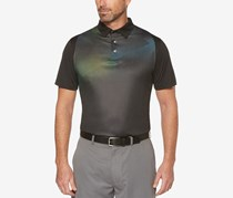 PGA Tour Men's Ragland Printed Golf Polo, Caviar