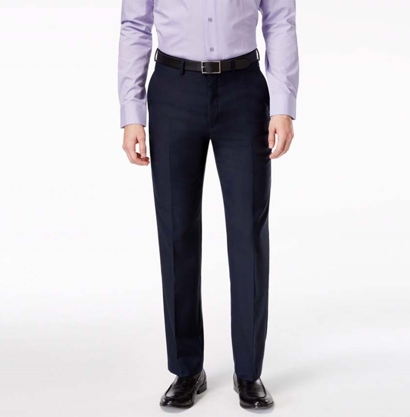 Ryan Seacrest Distinction Solid Modern Fit Pants, Navy