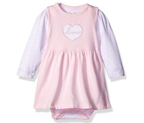 Rene Rofe Girls' 2 Piece Jumper Set with Bodysuit, Pink