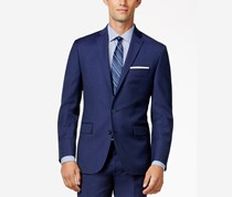 Ryan Seacrest Mens Textured Double Vent Two-Button Blazer, Blue