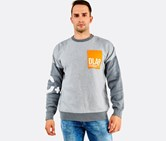 Cropp Men's Dlaab Pullover Sweater, Grey/Orange