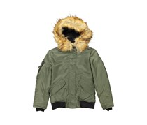 S13 NY Girls Igloo Down Bomber Jacket, Army/Natural