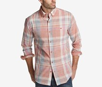 Weatherproof Vintage Men's Plaid Shirt, Pomegranate