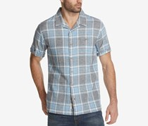 Weatherproof Vintage Men's Plaid Shirt, Navy