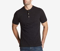 Weatherproof Vintage Men's Textured Jersey-Knit Henley Shirt, Black