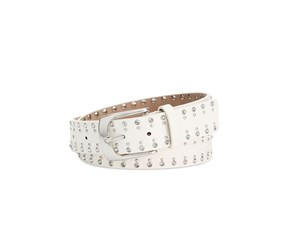 Style & Co. Women's Rhinestone Pant Belt, White