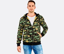 Cropp Men's Hooded Sweatshirt, Green Camo