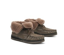 Trask Shannon Genuine Shearling Lined Bootie, Taupe
