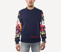 Sean John Mens Printed-Sleeve Sweatshirt, Night Sky