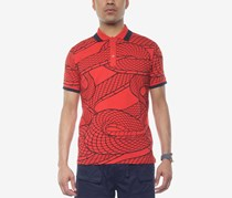 Sean John Men's Printed Polo, Fiery Red
