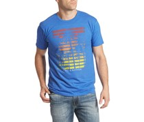 Flag & Anthem Palm Stripes Tee, Royal Blue Heather