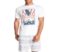 Flag & Anthem Short Sleeve Eagle Graphic Tee, White