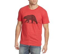 Flag & Anthem Men's Bear Supply Tee, Red Heather