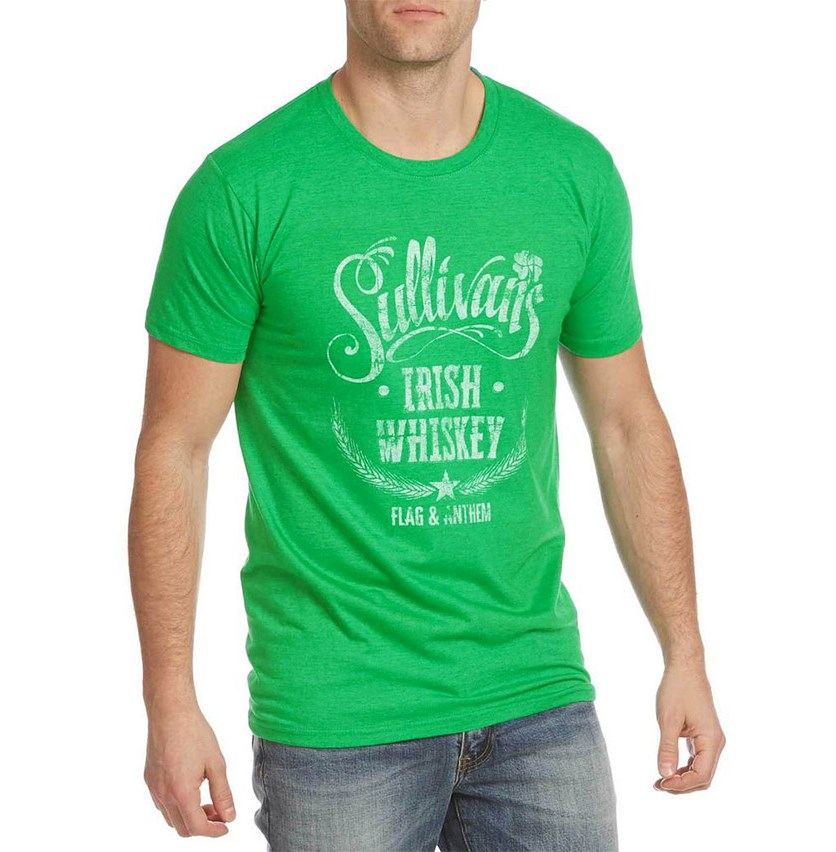 Mens Graphic T-Shirt, Green Heather