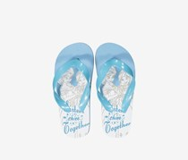 Girls Disney Frozen Slip-on Flipflops, Blue/White