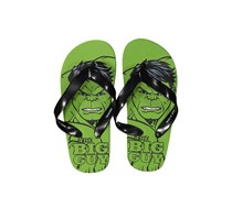Little Boys Marvel Avengers Hulk Slip-on Flip-Flops, Green/Black