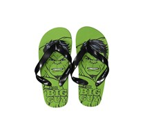 Boys Marvel Avengers Hulk Slip-on Flip-Flops, Green/Black