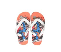 Little Boys Superman Slip-on Flipflops, Orange/White