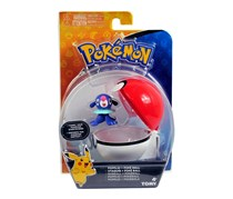 Tomy Pokemon Popplio And Quick Ball Action Figure, Blue/Red/White