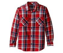 Tommy Hilfiger Boy's Jazz Long Sleeve Shirt, Red