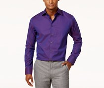 Tallia Men's Fitted Dobby Circle Dress Shirt, Magenta