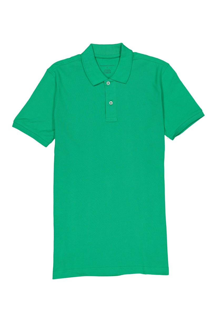 Men's Plain Solid Polo Shirt, Green