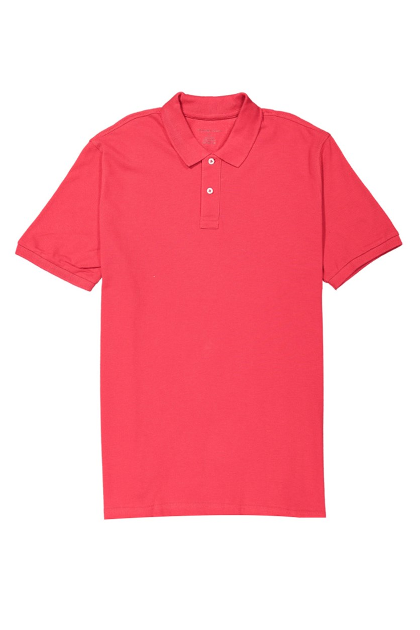 Tahari Sport Men's Cotton Solid Polo Shirt, Red