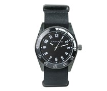 Tahari Mens Nato Strap Analog Watch, Black