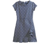 Tommy Hilfiger Girl's Polka Dot Dress, Flag Blue