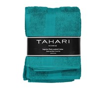 Tahari Hand And Bath Towel Set, Blue Green