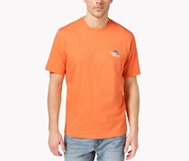 Tommy Bahama Men's Live Streaming Graphic-Print T-Shirt, Bright Apricot