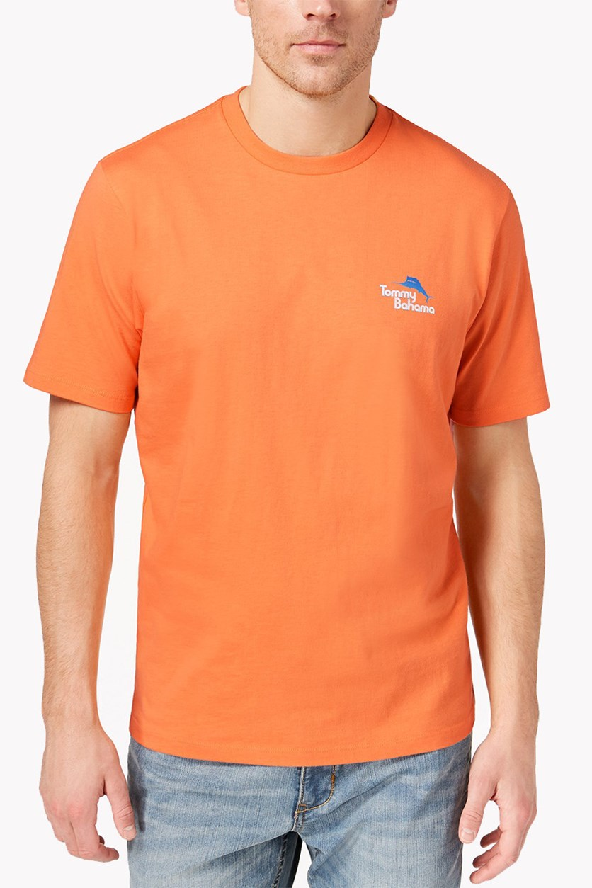 Men's Live Streaming Graphic-Print T-Shirt, Bright Apricot