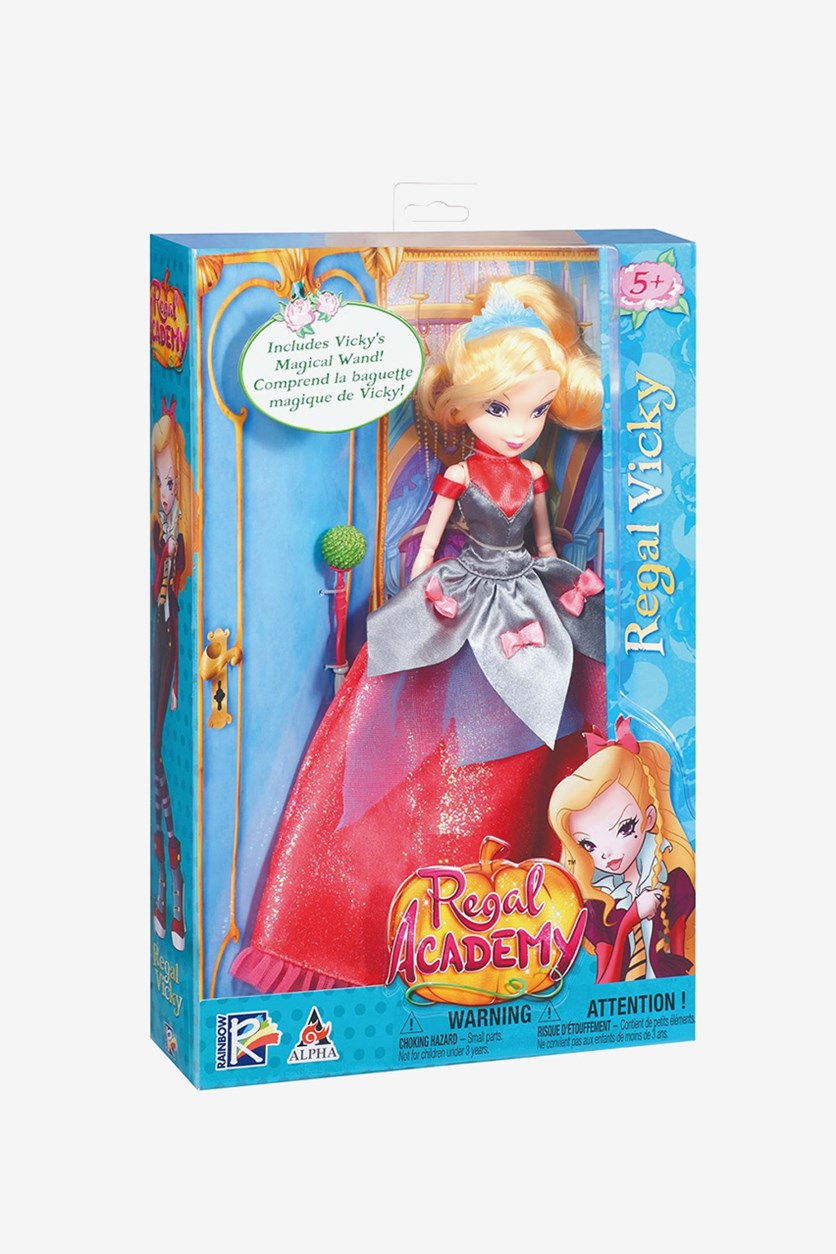 Deluxe Vicky Fashion Doll in Regal Gown, Red
