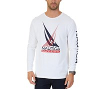 Nautica Mens Graphic-Print T-Shirt, Bright White
