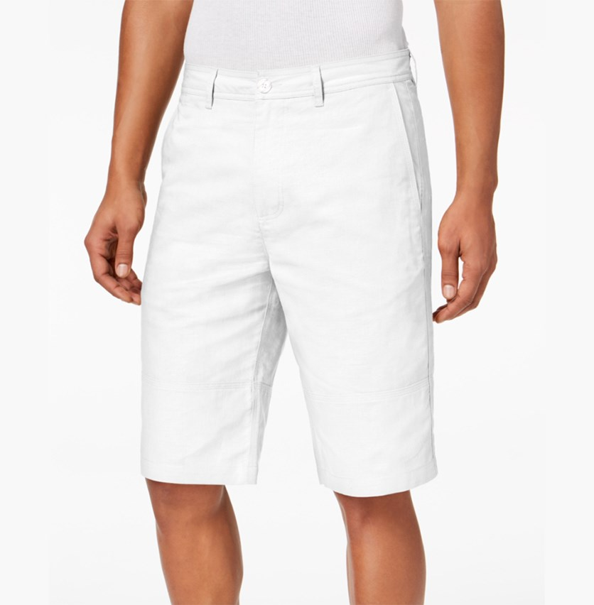 Men's Linen Shorts, Bright White
