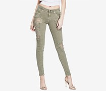 Guess Ripped Curvy Skinny Jeans, Army Love