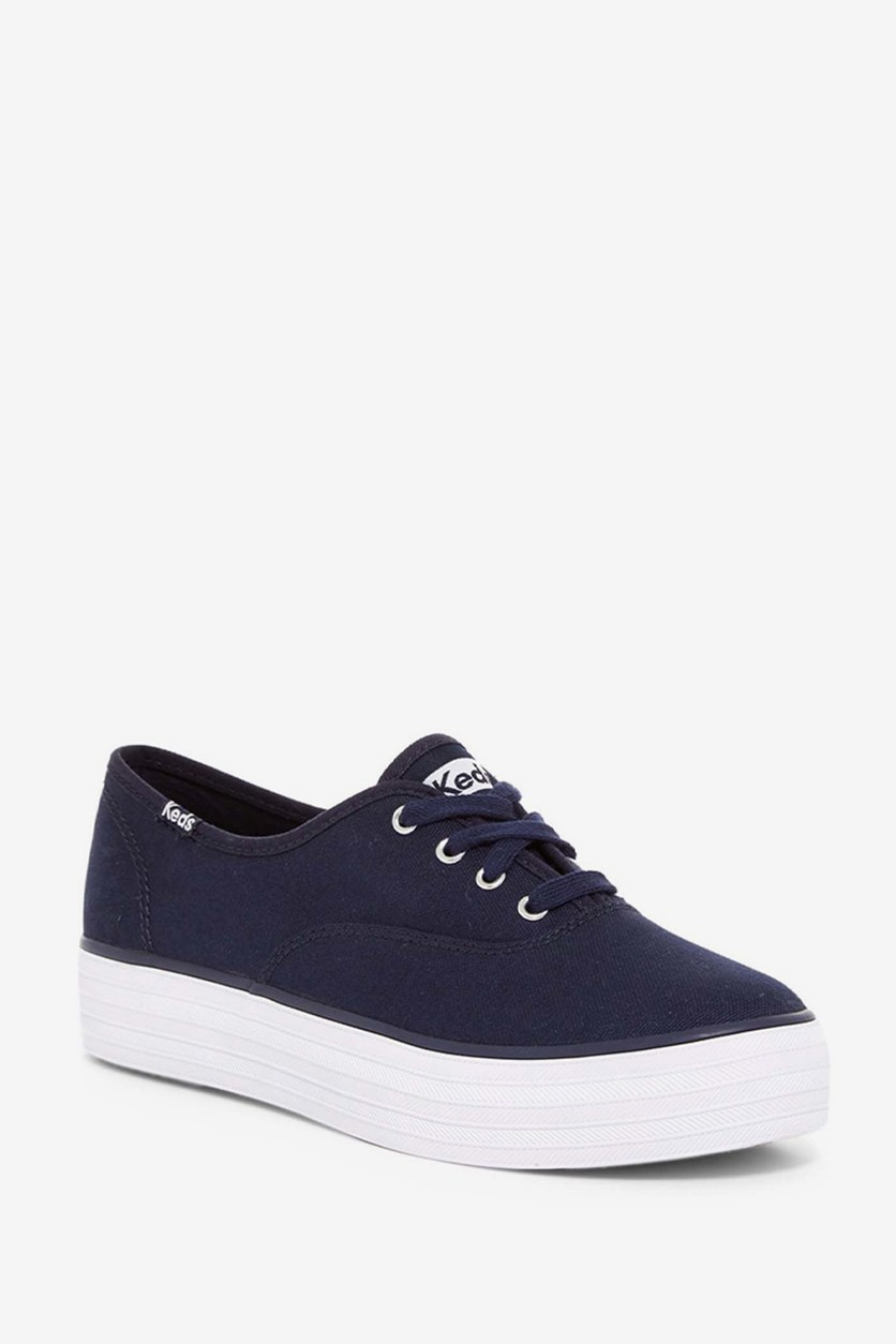 Women's Triple Core Sneaker, Solid Navy