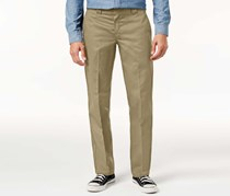 Men's Slim-Straight Fit Work Pants, Khaki
